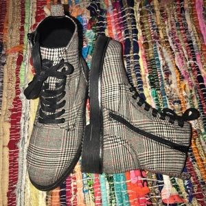 forever 21 plaid boots